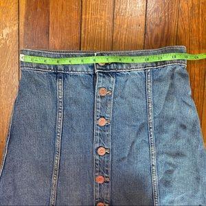 Express Skirts - Karlie Kloss Express Button Up Denim Skirt Size 00